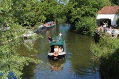 Narrowboat, Kennet and Avon Canal, from Kintbury Bridge, Kintbury