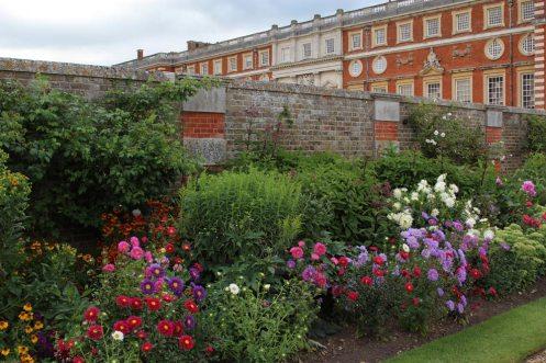 Flower border, Broad Walk, Hampton Court Palace