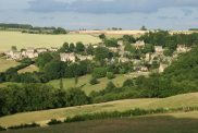 Snowshill, from below Littleworth Wood
