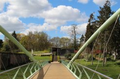 Bridge to Visitor Centre and Shop, Painshill Park, Cobham