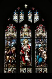 East Window, Victorian stained glass, St. Nicholas Church, Steventon