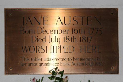 Memorial to Jane Austen, St. Nicholas Church, Steventon
