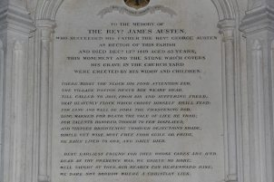 Memorial to The Rev. James Austen, St. Nicholas Church, Steventon