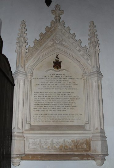 Memorial to The Rev. James Austen, St. Nicholas Church, Steventon