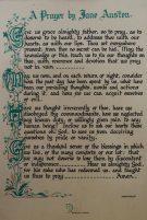 Prayer by Jane Austen, on wall of St. Nicholas Church, Steventon