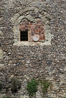 Plaque on boundary wall, Archbishop's Palace, Charing