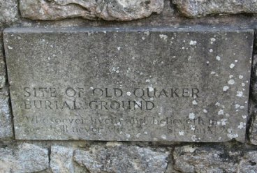 Plaque, site of Old Quaker Burial Ground, Haddenham