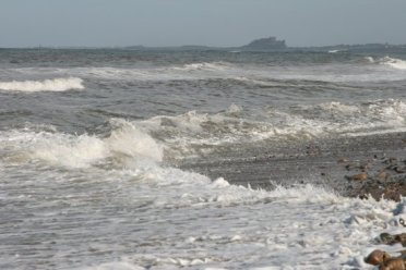 Bamburgh Castle, from Holy Island, Lindisfarne