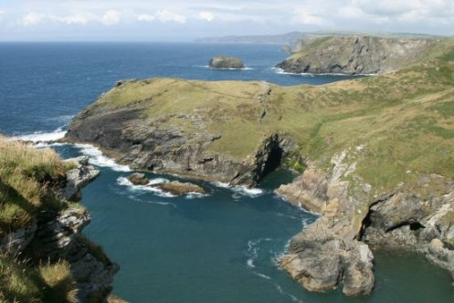 Barras Nose and The Haven, from the summit of The Island, Tintagel Castle, Tintagel