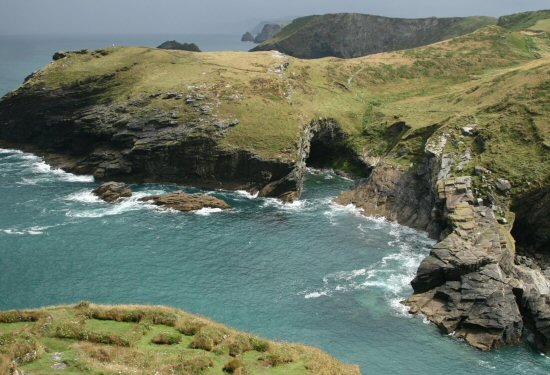 Barras Nose and The Haven, from Tintagel Castle, Tintagel