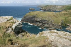 Barras Nose, Willapark and Cambeak headland, from the summit of Tintagel Castle, Tintagel