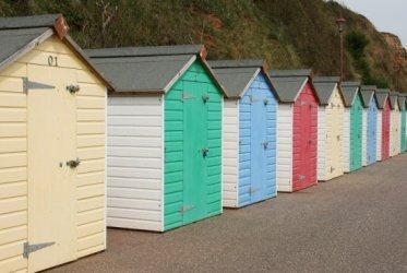 Beach huts, West Walk, Seaton