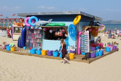 Beach kiosk, Weymouth