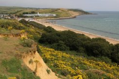 Bowleaze Cove and Overcombe Beach, from Furzy Cliffs, Weymouth