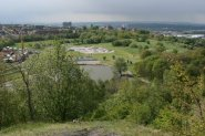 Central Forest Park, from viewpoint of relcaimed coal slag heap, Hanley, Stoke-on-Trent