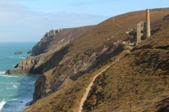 Cliff path to Wheal Coates Mine, St. Agnes