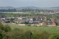 Cobridge, from viewpoint of reclaimed coal slag heap, Central Forest Park, Hanley, Stoke-on-Trent
