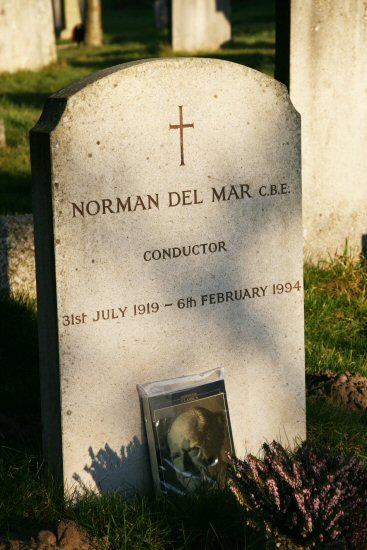 Conductor, Norman Del Mar's grave, St. Peter's Churchyard, Limpsfield