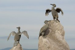 Cormorant Sculptures, Stone Jetty, Morecambe