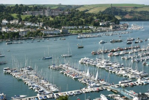 Dartmouth and River Dart, from Ridley Hill, Kingswear
