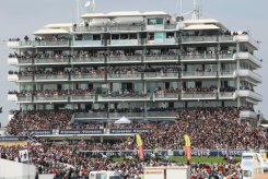 Derby finish and Queen's Stand, Queen's Diamond Jubilee, The Epsom Derby