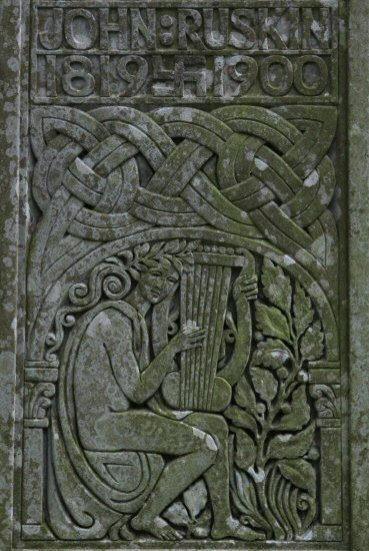 Detail, Grave of John Ruskin, St. Andrew's Church, Coniston