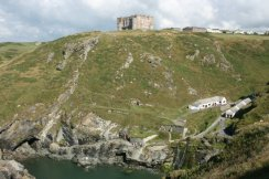 English Heritage Centre, from Tintagel Castle, Tintagel