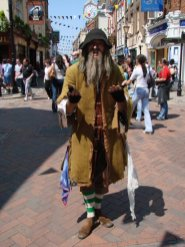 Fagin, Oliver Twist. Charles Dickens' Festival, Rochester
