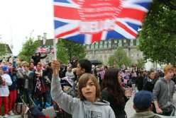Flag waver, Queen's Diamond Jubilee, Thames Pageant