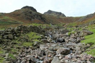 Footpath to Dungeon Ghyll and Pike of Stickle, Great Langdale