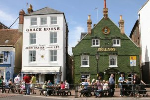 Grace House and Poole Arms, The Quay, Poole