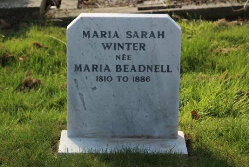 Grave of Maria Beadnell, Charles Dickens first love, Highland Road Cemetery, Southsea