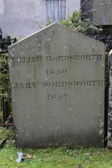 Grave of William Wordsworth and wife Mary, St. Oswald's Churchyard, Grasmere