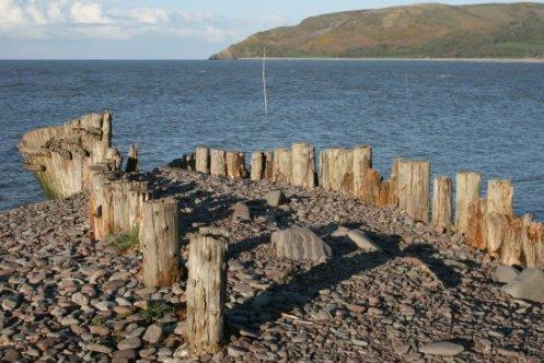 Groynes, Porlock Weir Beach, Porlock Bay, Exmoor