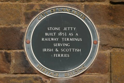 Heritage Plaque, Stone Jetty Café, Stone Jetty, Morecambe