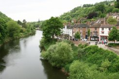 Ironbridge and River Severn, from The Iron Bridge