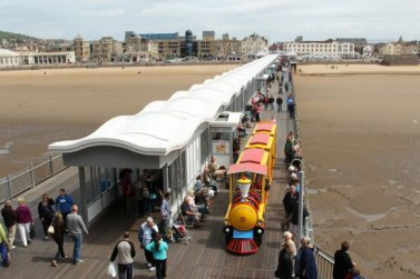 Land Train, from balcony, Grand Pier, Weston-super-Mare