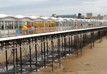 Land Train, on south side of Grand Pier, Weston-super-Mare
