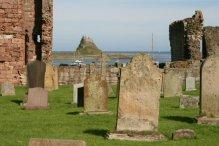 Lindisfarne Castle and St. Mary's Churchyard, Holy Island