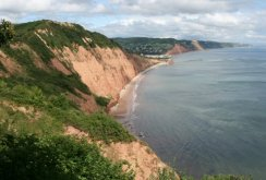 Lyme Bay, from High Peak Cliff, Sidmouth