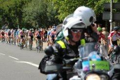 Mark Cavendish (green helmet) London – Surrey Cycle Classic Race, 14th August 2011