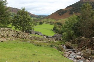 Middle Fell Farm, from Dungeon Ghyll footpath, Great Langdale