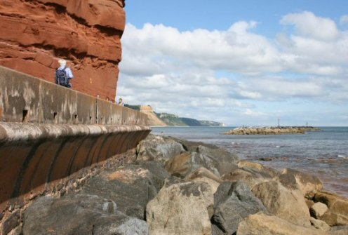 Millennium Walkway and sea defences, Sidmouth