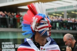 Mohican reveller, Queen's Diamond Jubilee, Thames Pageant