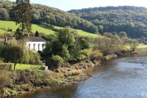 Moravian Church and River Wye, Brockweir