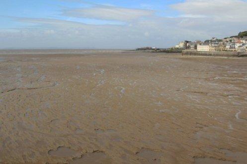 Mud flats, from Grand Pier, Weston-super-Mare
