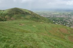 North Hill and Great Malvern, from path to Worcestershire Beacon