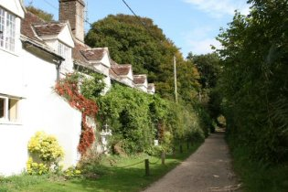 Path leading to Thomas Hardy's Cottage, Higher Bockhampton