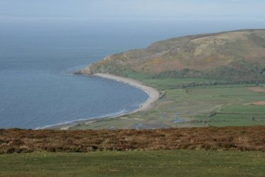 Porlock Bay, from Porlock Hill, Exmoor