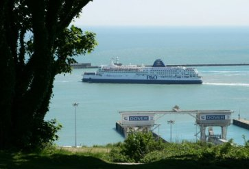 'Pride of Calais', P&O Cross Channel Ferry, Dover Harbour, Dover